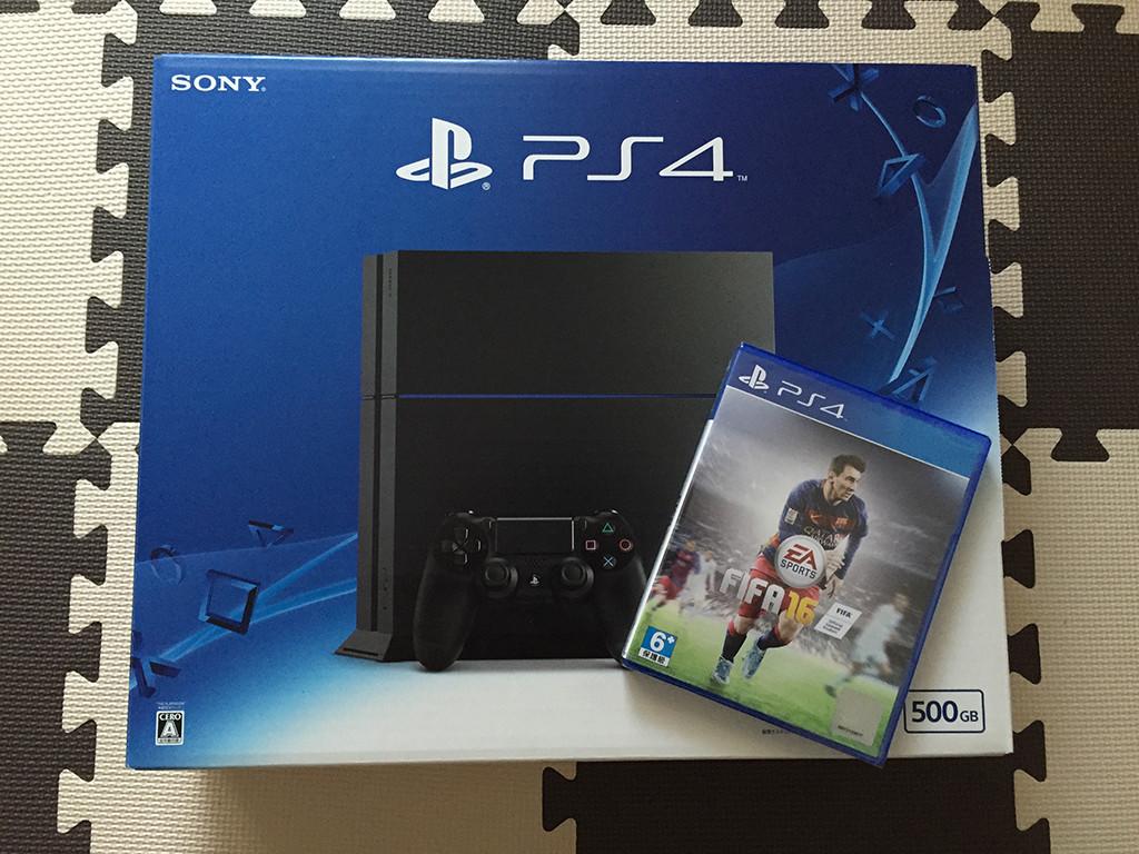 PS4とFIFA16アジア版のパッケージ