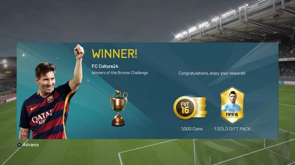 Bronze Challengeカップを制覇