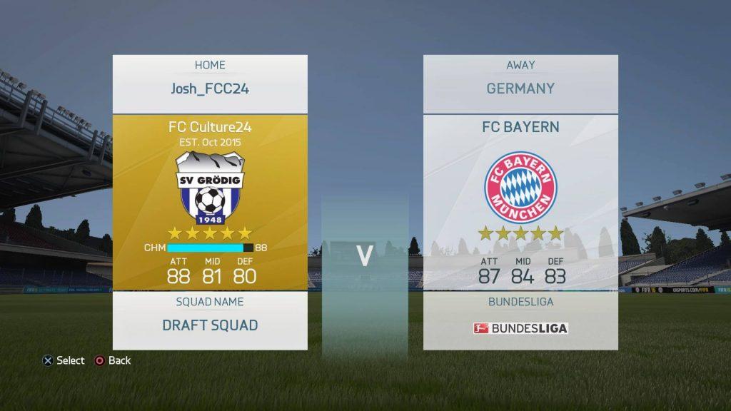 FIFA16 ドラフト4試合目