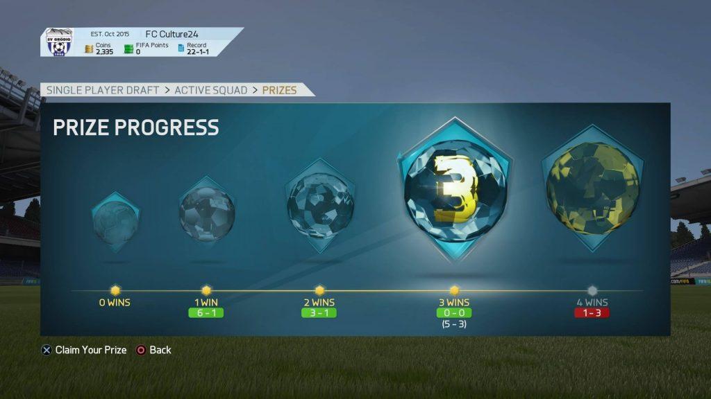 FIFA16 ドラフトの試合結果
