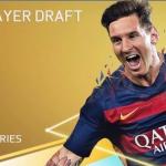 FIFA16UTドラフトの選択画面
