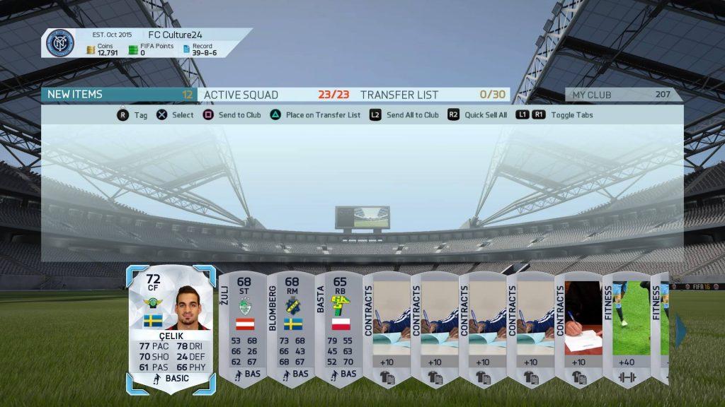 FIFA16 UT Div6 reward-silver pack