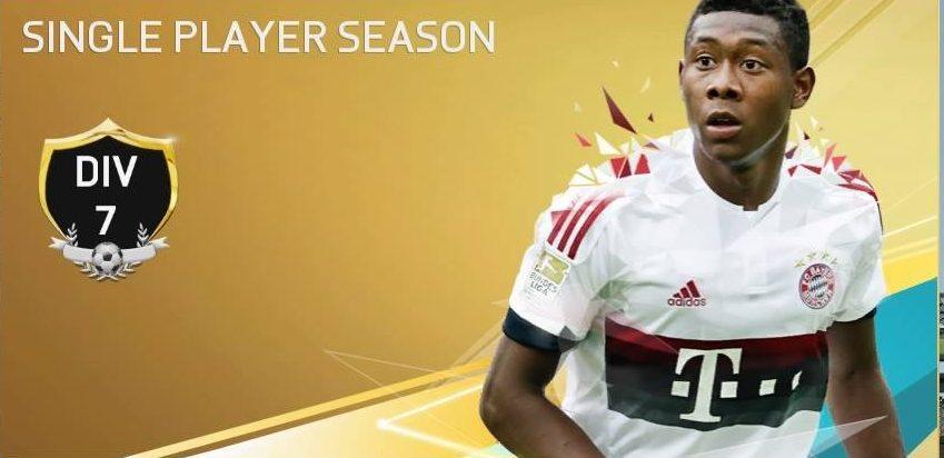 FIFA16UTシーズンDiv7