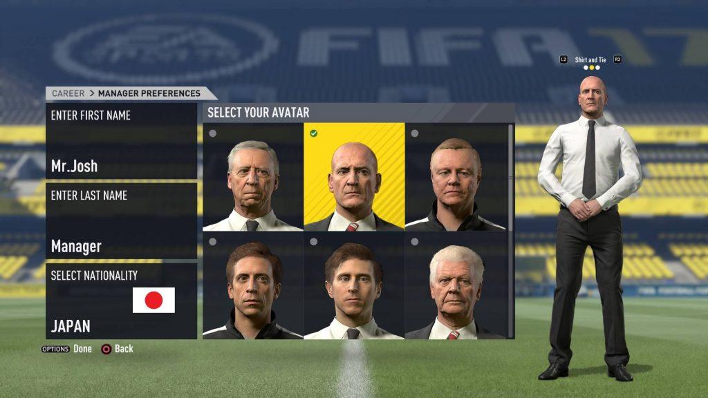 FIFA17_キャリアモードで監督の選択