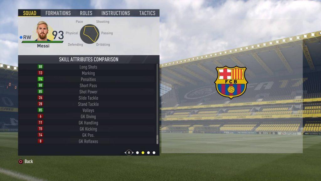 FIFA17のメッシのスキル属性2