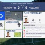 FIFA19選手キャリアモード 1年目J1リーグ前半横浜Fマリノス戦