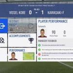 FIFA19選手キャリアモード 1年目J1リーグ前半フロンターレ川崎戦