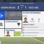 FIFA19選手キャリアモード 1年目J1リーグ前半鹿島アントラーズ戦