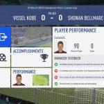 FIFA19選手キャリアモード 1年目ルヴァンカップGS-2湘南ベルマーレ戦
