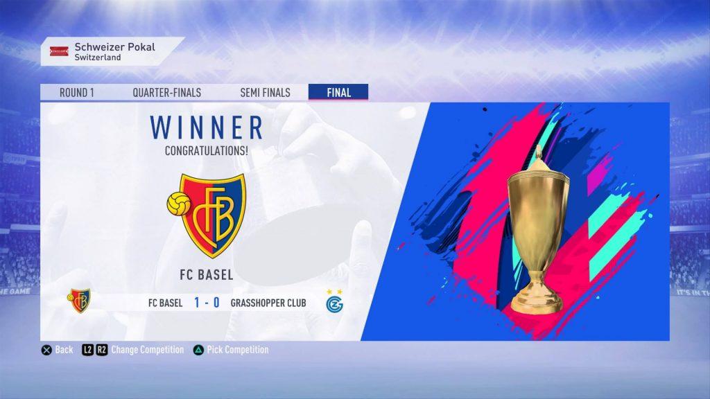 FCバーゼルでカップ戦優勝